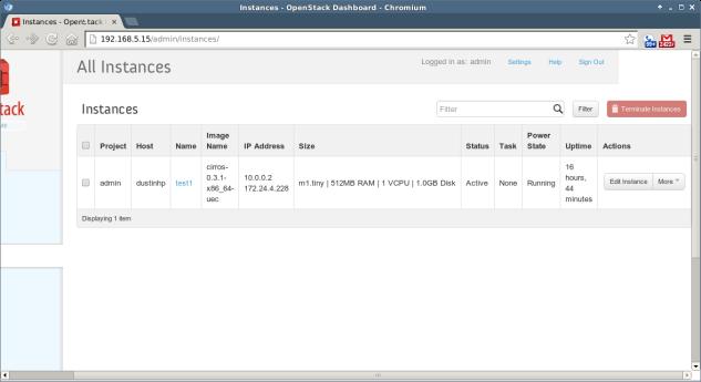 OpenStack - 3 - Instances