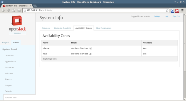 OpenStack - 6 - System Info 1
