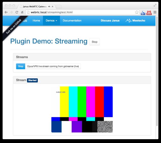 Janus WebRTC Gateway Screenshot