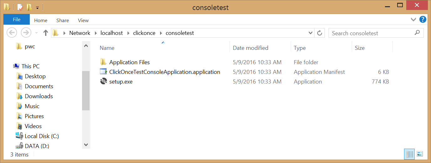 Creating a ClickOnce Application in Visual Studio 2015